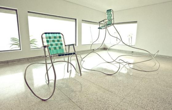 Andy Ralph's Lawn Chair Sculptures
