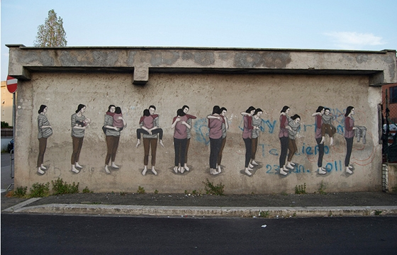 ¨Cycles¨ by Hyuro in Terracina, Italy