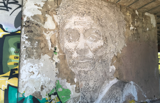 Vhils Creates New Mural for Amnesty International to demand justice for Marielle Franco