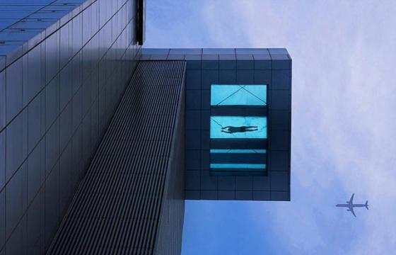 The Glass Bottom Pool 24-Stories Tall