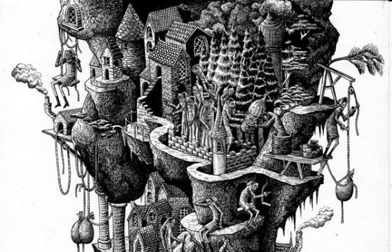 """Civilisation "" drawing by Phlegm"