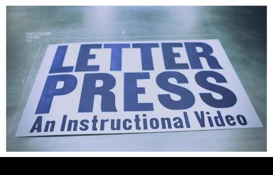 Letterpress: An Instructional Video