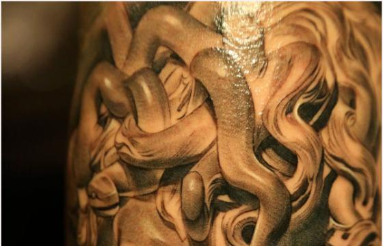 Bernini's Medusa Tattooed by Klown