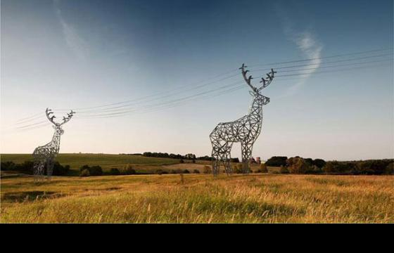 Deer Shaped Electricity Pylons