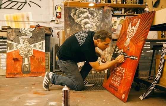 Tonight: Power & Glory: Shepard Fairey and Jasper Johns @ Halsey Institute