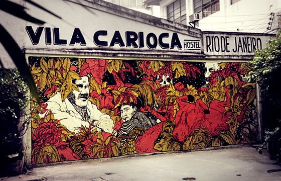 Broken Fingaz wonder through Brazil and paint some things