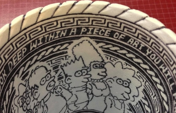 Anonymous Artist Leaves Behind Incredibly Detailed Styrofoam Cup Doodle