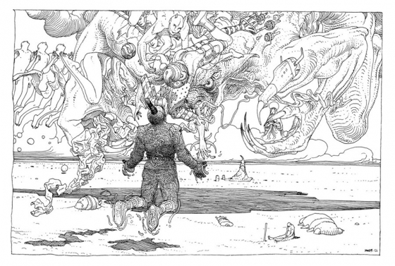 Black and White Drawings by Moebius