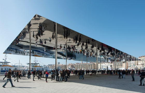 Mirrored Canopy in Marseille by Foster + Partners