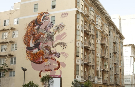 Nychos paints new mural in San Francisco