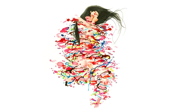 """BLANKET"" print by David Choe"