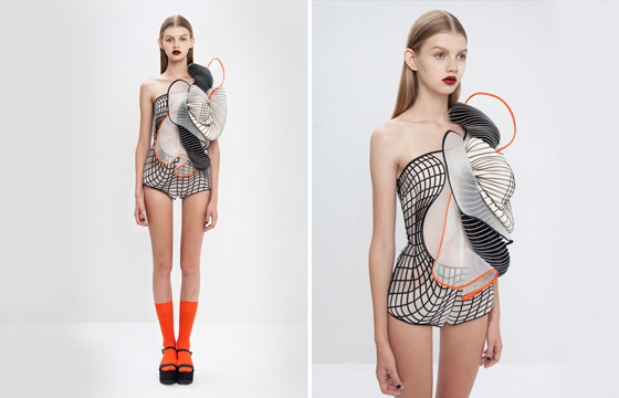 "3D Printed ""Virtual Reality"" Fashion"