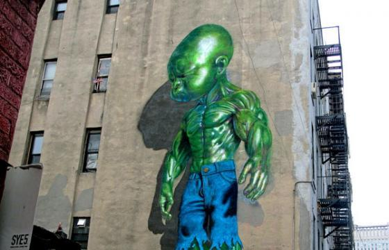 "Ron English's ""Temper Tot"" in New York"