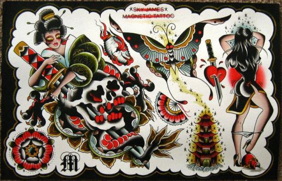 Sky James Tattoo Flash