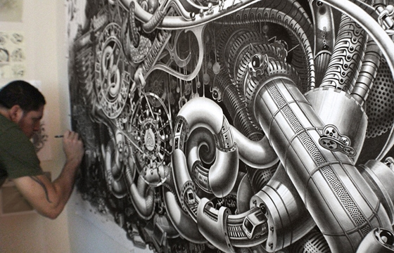 Surreal Steampunk Style Drawings by Samuel Gomez