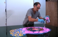 Watch: Bruce Riley's Psychedelic Resin Paintings