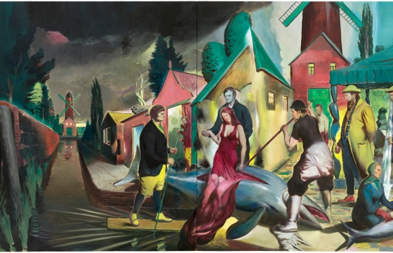 "Neo Rauch ""At the Well"" @ David Zwirner Gallery, NYC"
