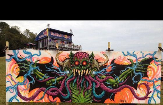 Skinner Mural at the CounterPoint Music Festival