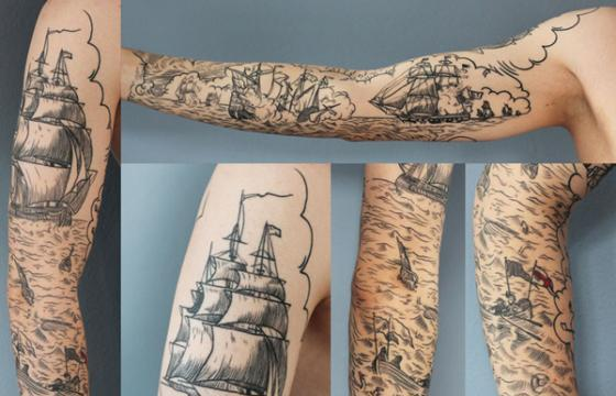 Scrimshaw Battleship Sleeve from Rich Phipson