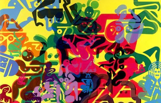 "Ryan McGinness ""Women: The Blacklight Paintings"" at The Standard Hollywood"