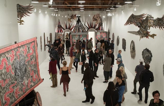 "Opening: Dennis McNett ""Temple of Wolfbat"" @ Known Gallery, LA"