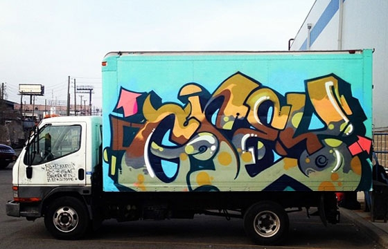 Grey boxtruck