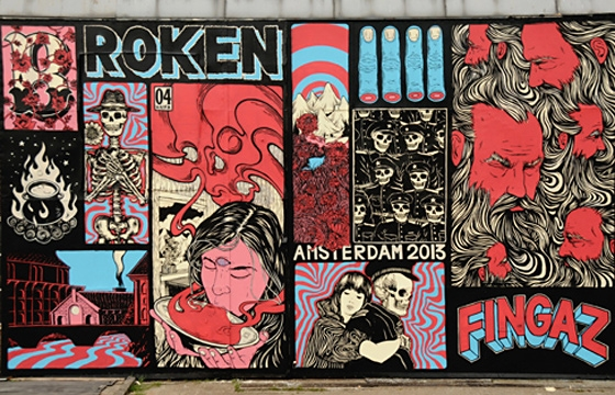 New wall and upcoming show from Broken Fingaz