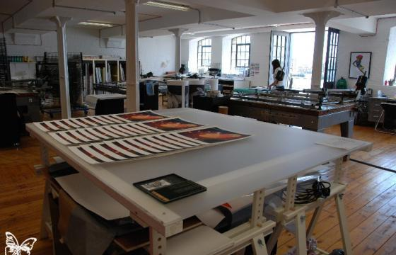 Studio Visit: Lazarides Print Studio in Wapping, London