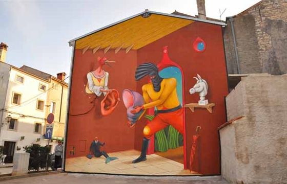 New AEC mural in Vodnjan, Croatia