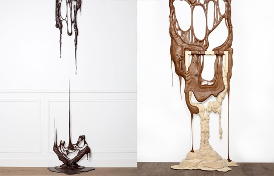 Sculptures of Dripping Wooden Picture Frames