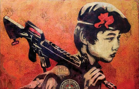 Shepard Fairey at White Walls & Shooting Gallery