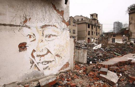 More new Walls from Vhils in Shanghai