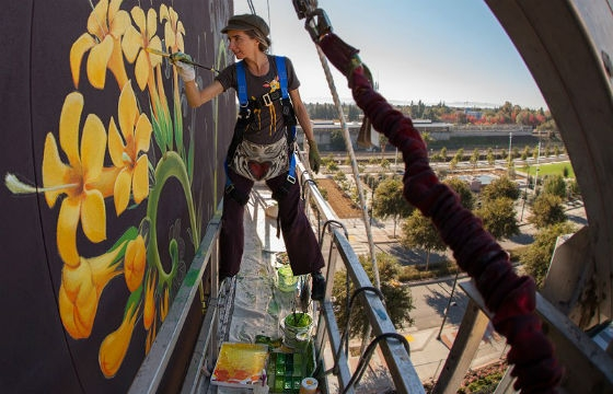 New Video Of WEEDS Murals by Mona Caron