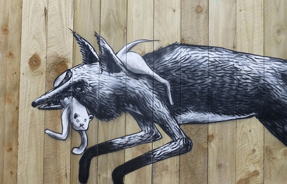 """Urban foxes"" by Phlegm"