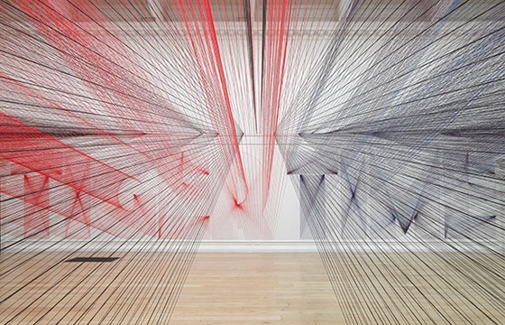 Pae White's Installation with 48 Kilometers of Thread