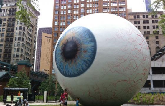 "Video and photos of ""Eye"" by Tony Tasset"