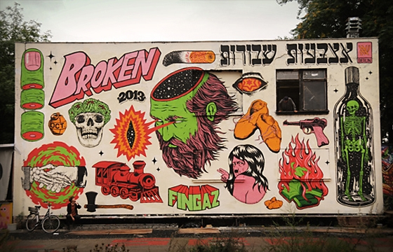 New Broken Fingaz mural in Berlin, Germany