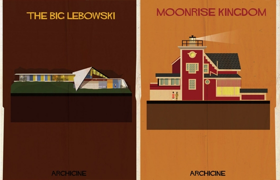 """Archicine"" Illustrations of Iconic Architecture in Film"