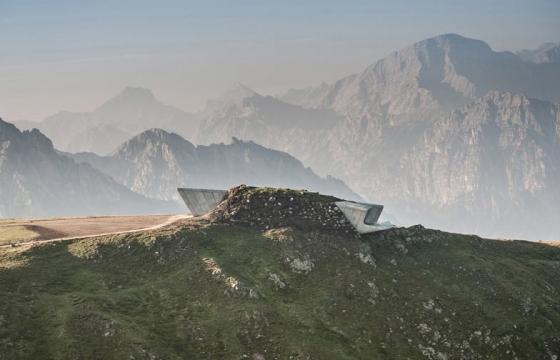Zaha Hadid designs museum for renowned climber Reinhold Messner on Alpine peak, Mount Kronplatz