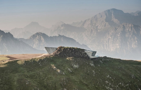 Zaha Hadid designs museum for renowned climber Reinhold Messner on Alpine peak, Mount Kronplatz