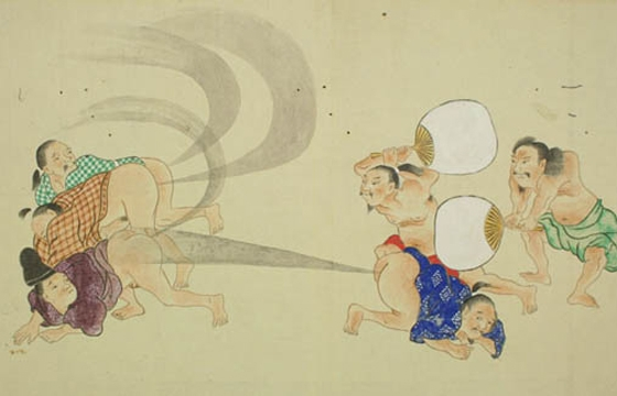 Drawings of Men Farting from the Japanese Edo Period (1603-1868)