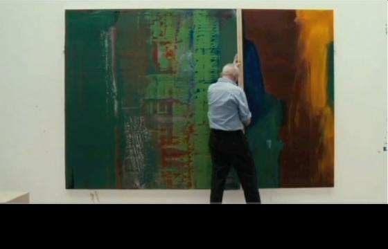 Gerhard Richter Captured Painting on Video