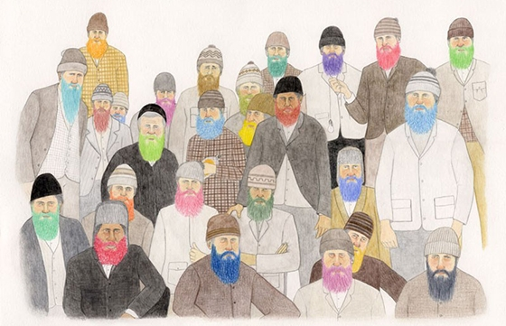 Jay Dart: Colored Beards and Sticks