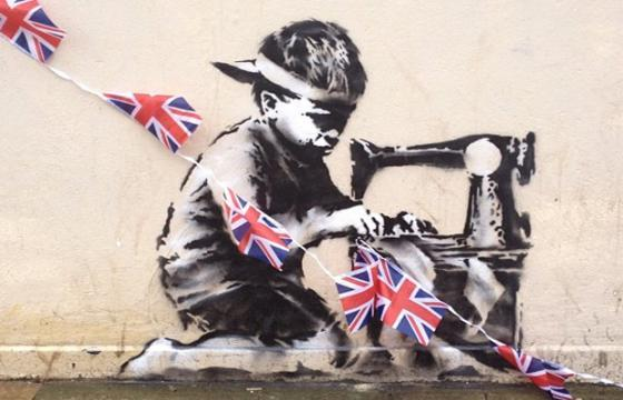 Banksy just in time for the Jubilee Celebration