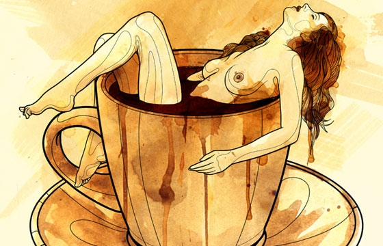 Tavo Montañez Paints With Coffee