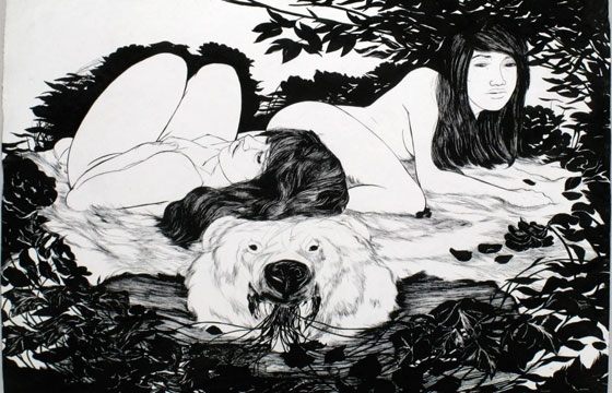 Sensual Sumi Ink Paintings from Ray Jones