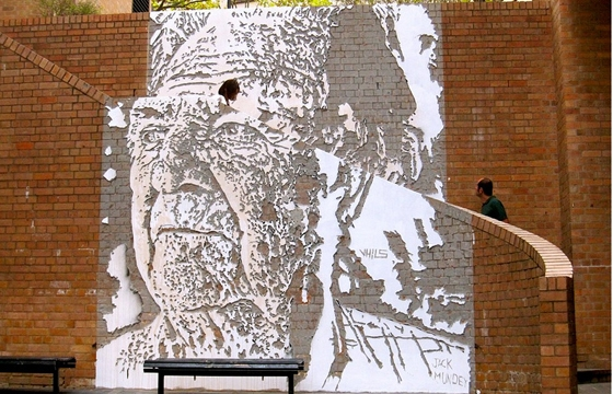 Portrait of Jack Mundy + Exhibition in Sydney by Vhils