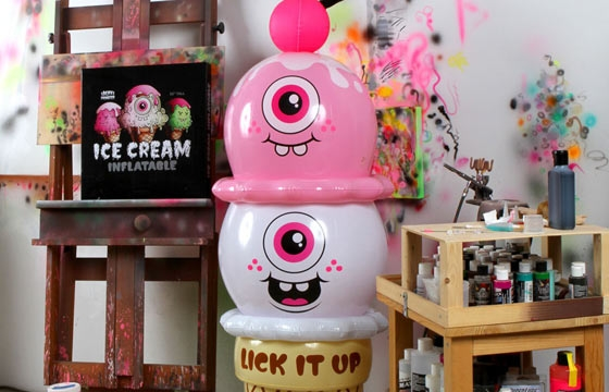 The Buff Monster Ice Cream Inflatable