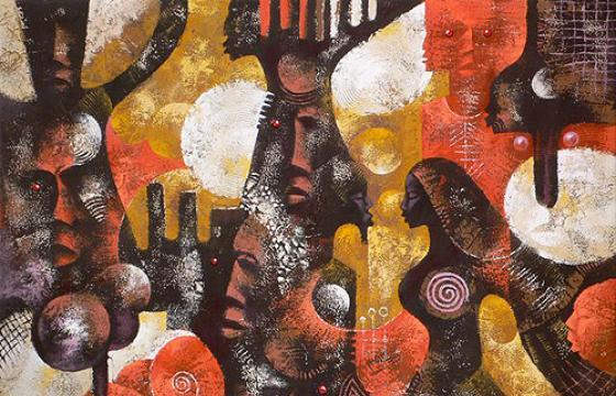 Paintings by Ghanaian artist Wiz Kudowor