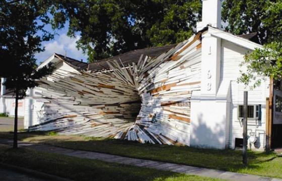 From Street Art: The Inversion House